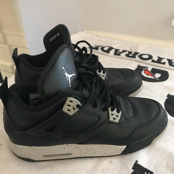 de6c3ac8a0618d Jordan Other - Air Jordan 4 Retro BG Boys Black Grey Oreo 7Y